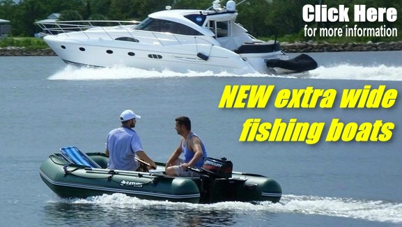 NEW Extra Wide Fishing Boat!