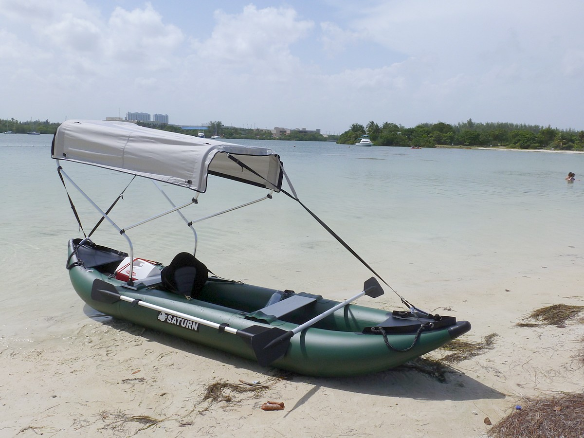 New adjustable width 2 bow bimini top for boat kayak for Cool fishing boat accessories