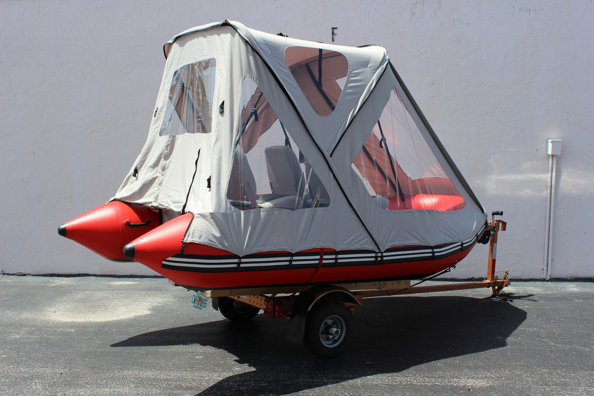 REMARKABLE SATURN SUN CANOPY BIMINI TOP DOME TENT: INFLATABLE BOAT 14' Lx6.6' W | eBay
