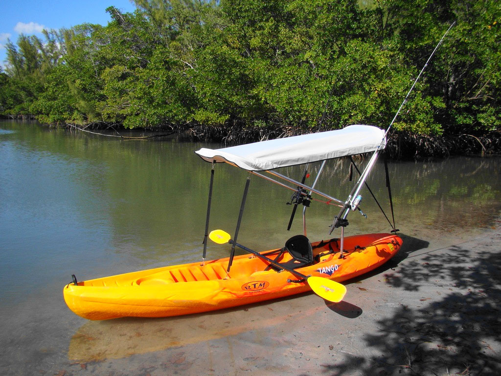 Fishing boat diy kayak bimini top for Best canoe for fishing