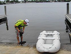 Electric Trolling Motor with 12' Saturn Inflatable KaBoat. Click to zoom in.