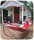 Picture of folding hammock provided by customer.