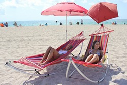 Folding Beach Hammocks - Standard and XL Version