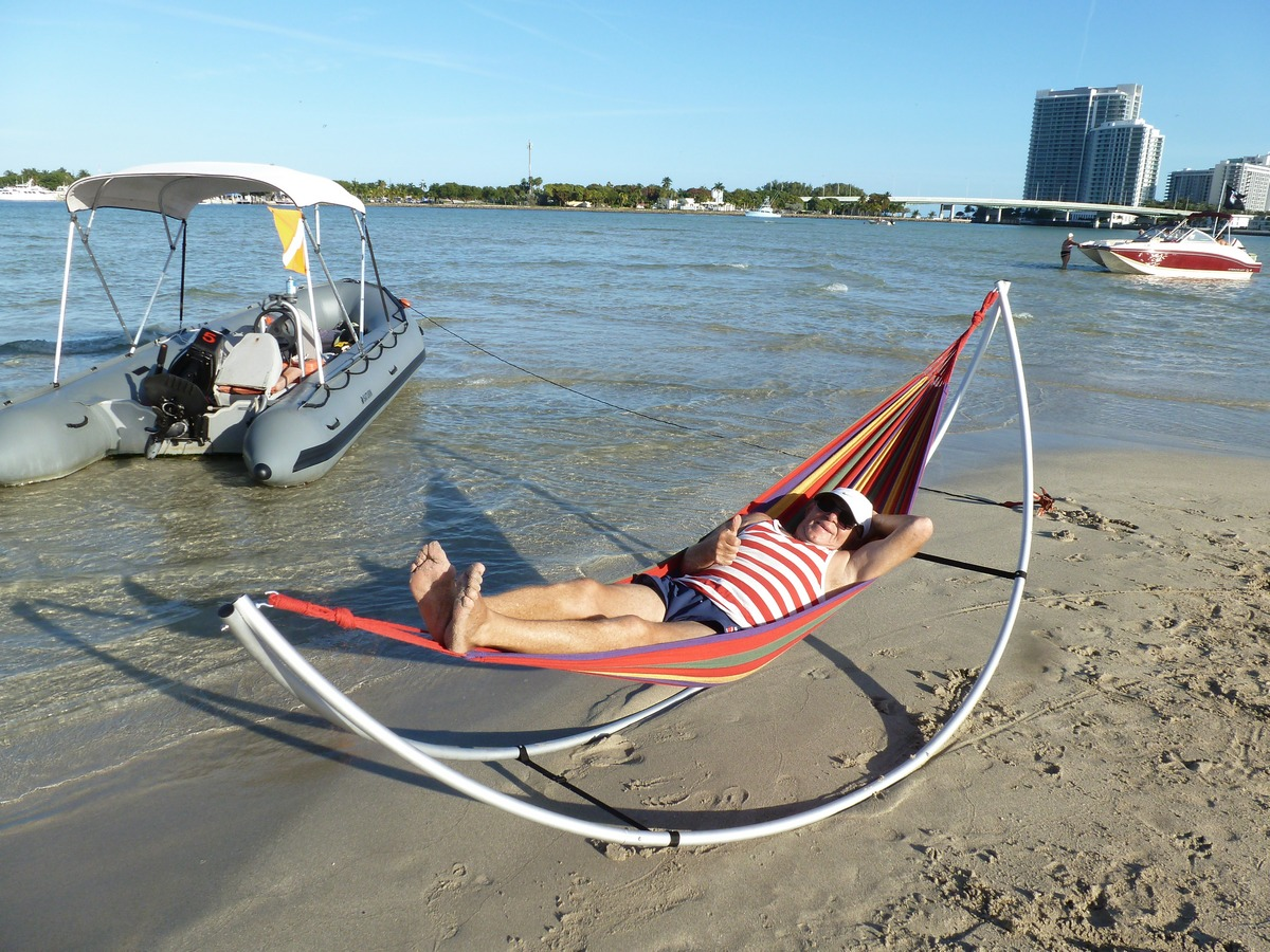 New Patent Pending Portable Foldable Travel Hammock For