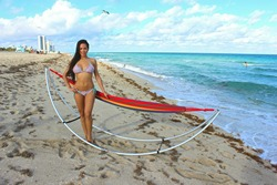 Folding Hammock For the Beach and Outdoors.