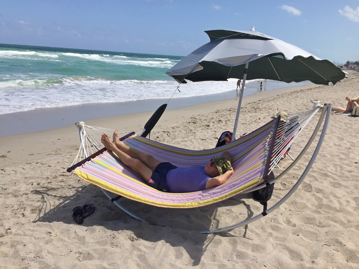 Portable, Travel, Folding Beach Hammock with Aluminum ...