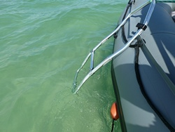 Foldable ladder for inflatable boat. Great for Swimming. Click to zoom in.