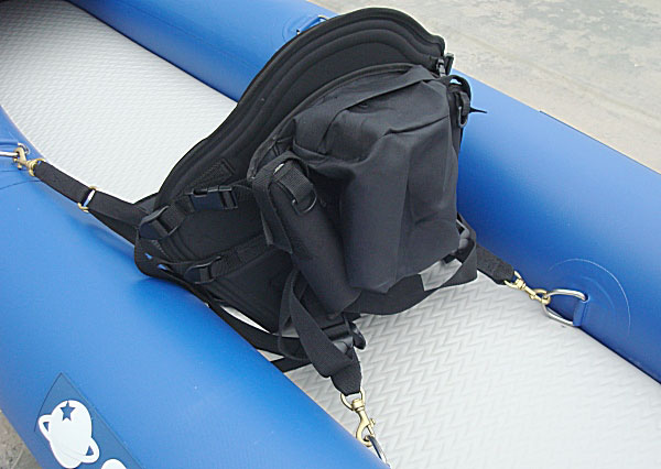 New deluxe molded foam kayak seat with back pack ebay for Kayak fishing seats