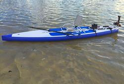 Inflatable SUP paddle board with 20lbs Electric Trolling Motor Installed,
