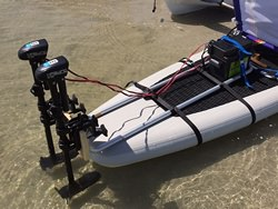 SUP motor mount kit. Outboard motor for SUP Paddle Board. Click to zoom in.