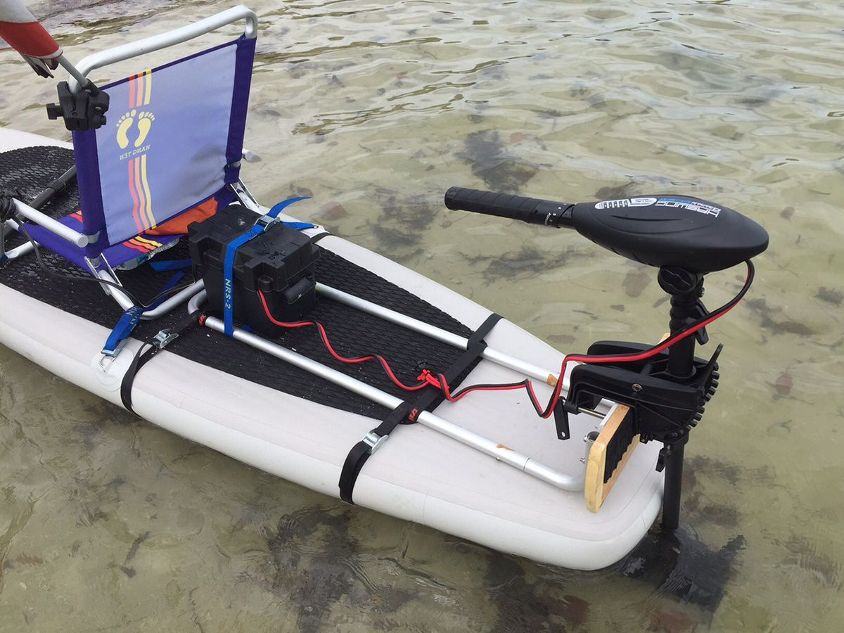 Add electric trolling motor to stand up sup paddle board for Kayak electric trolling motor