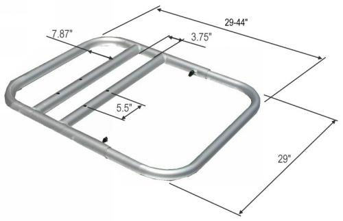 Boat Seat Dimensions : Aluminum frame sitting platform for inflatable boat dinghy