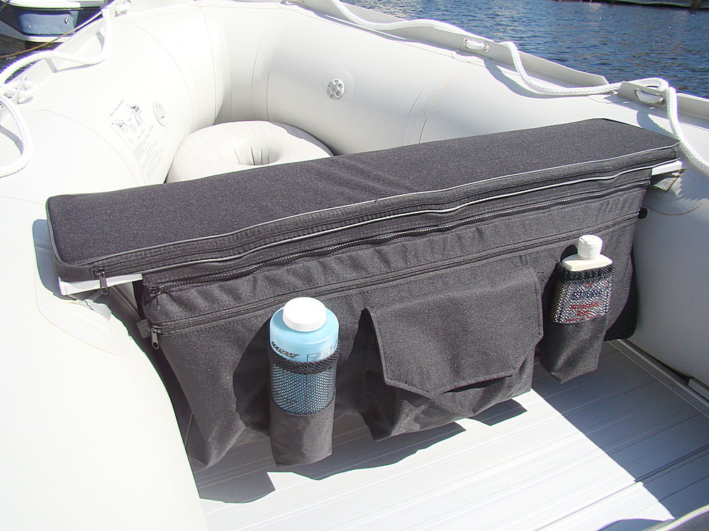 Underseat Storage Bag With Over The Seat Cushion For Inflatable Boat Ebay