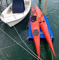 Affordable docking solution for kayaks. Click to zoom in.