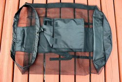 Backpack mesh carry bag for large gear and inflatable paddle boards.