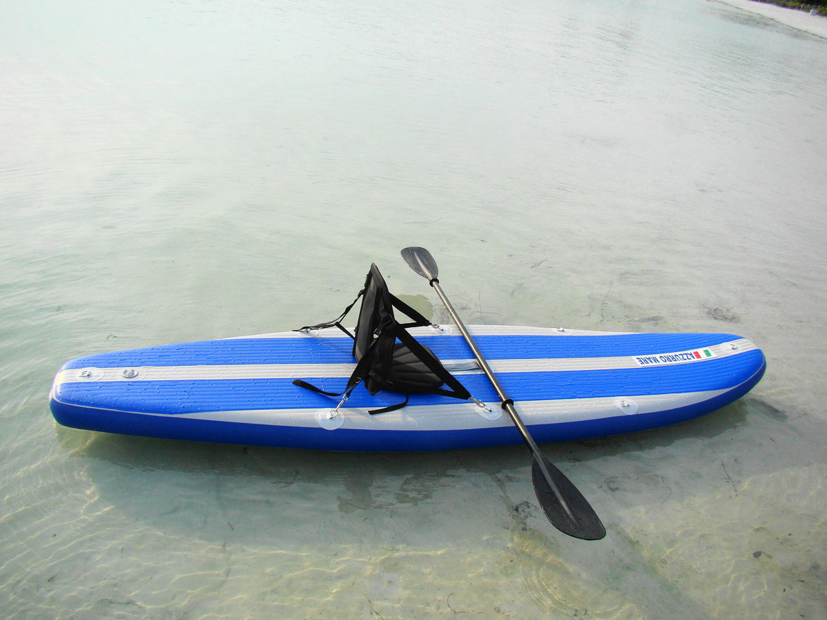 11ft Azzurro Mare Inflatable Extra Wide Stand Up Paddle
