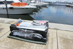 12' AM365 Inflatable Boat deflated and packed. Click to zoom in.