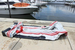 12' AM365 Inflatable Boat unrolled before inflations. Click to zoom in.