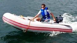 Riding Azzurro Mare AM290 Inflatable Boat. Click to zoom in.