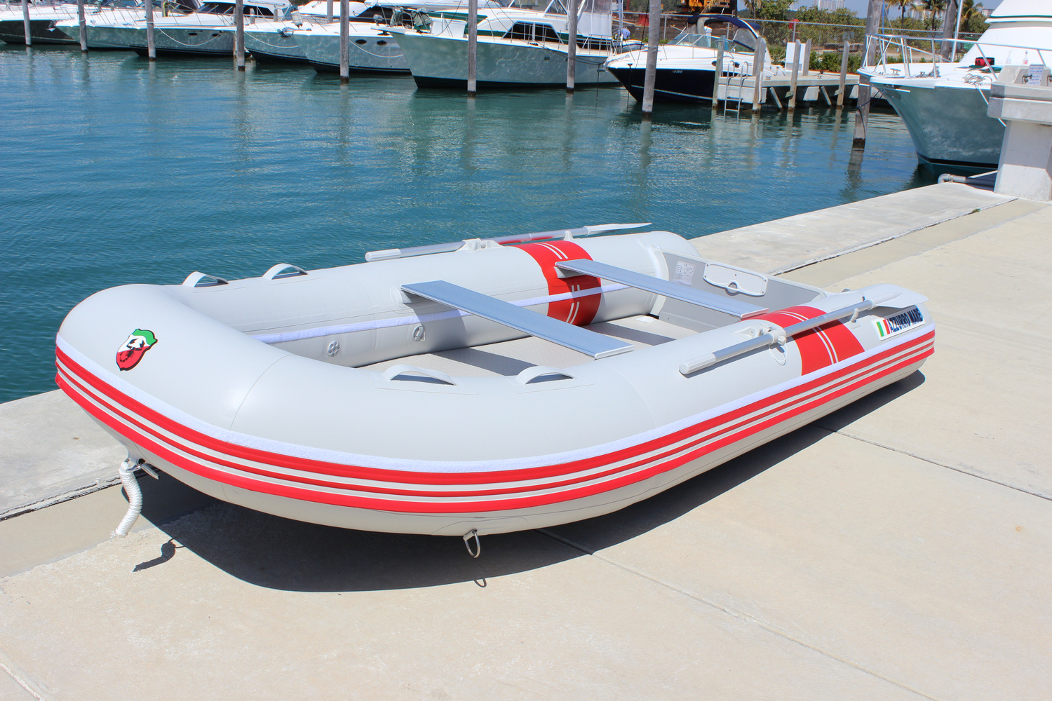 12 FT Azzurro Mare Heavy Duty Inflatable Boat Dinghy AM365 ...