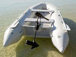 Saturn Inflatable Boat with Trolling Electric Motor.