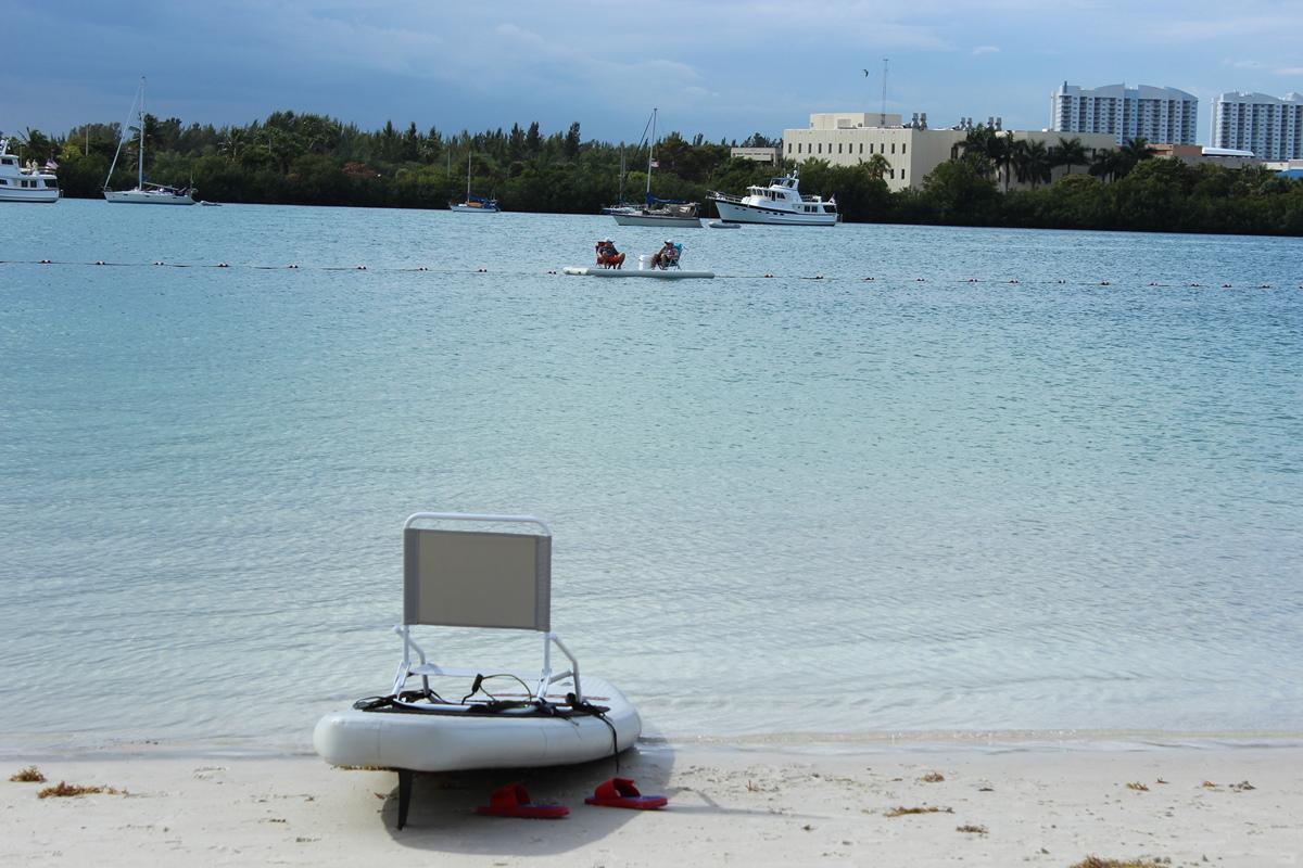 Portable Inflatable Island Dock For Sup Kayak Kaboat Canoe