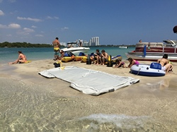 Inflatable Swim Platform. Great water toy for yachts!