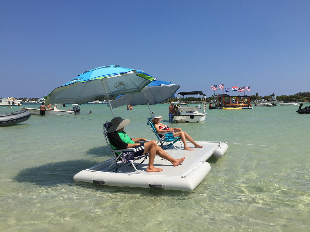 Inflatable Island To Swim Snorkel Fishing Stay Cool Or As
