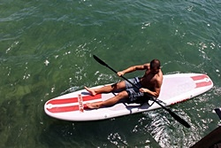 Saturn 11' Inflatable Paddle Board SUP can be used a sit on top kayak