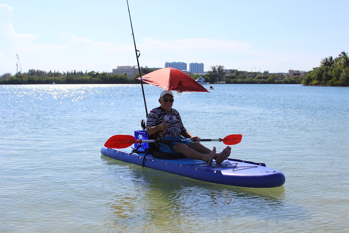 new 11 39 inflatable foldable fishing stand up paddle board