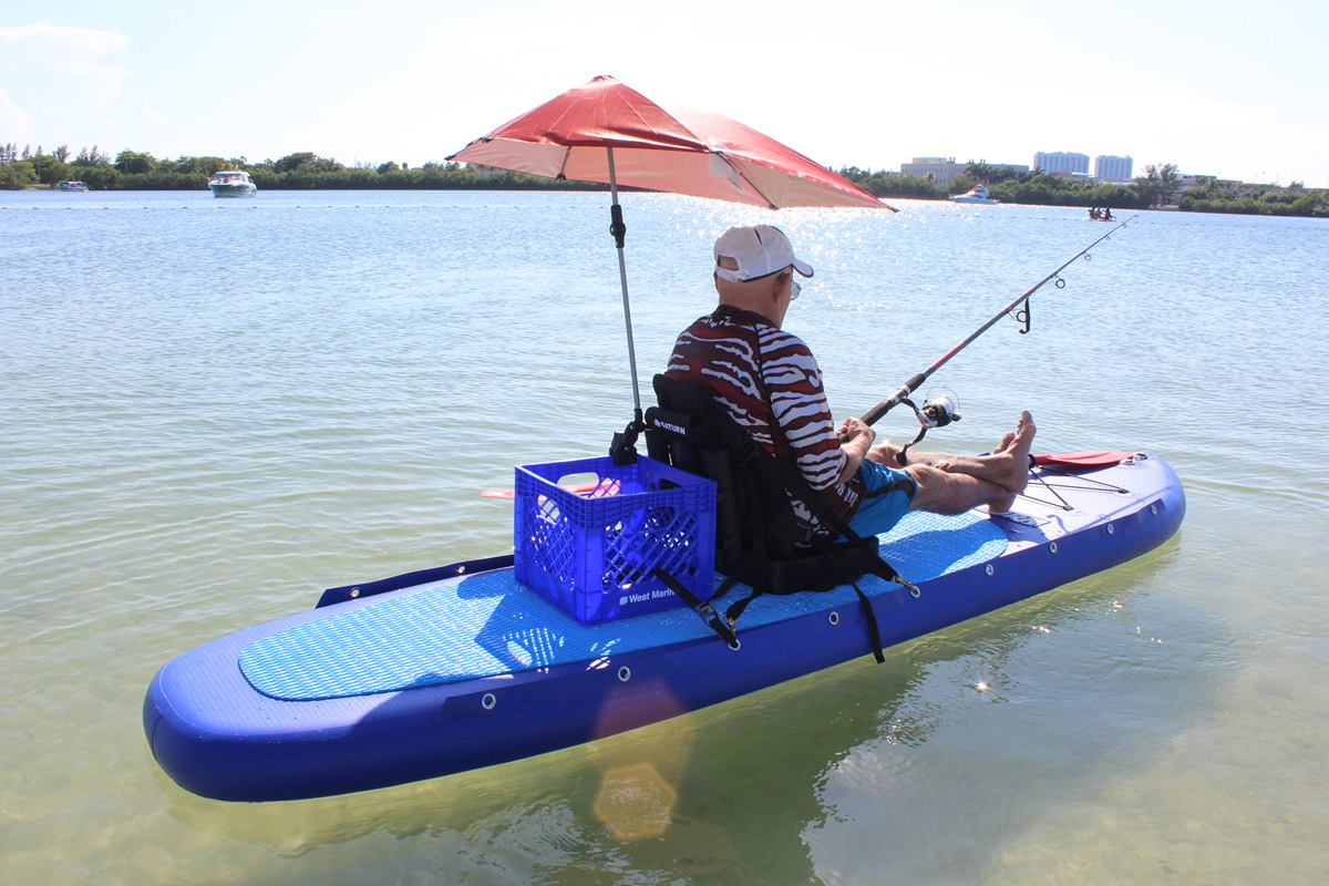 new inflatable fishing sit on top comfort kayak that also