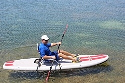 Kayaking Saturn SOT330 inflatable SUP
