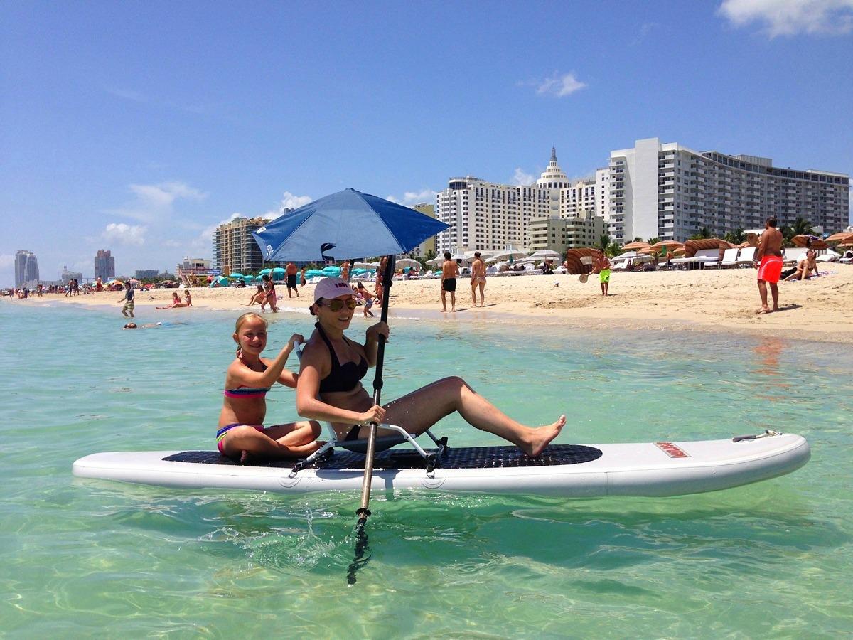 11 Ft Sup Paddle Board Sit On Top Kayak Mount Beach