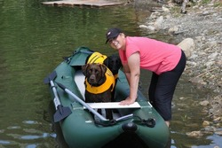 Saturn Inflatable Kayak is great for kayaking with a dogs!