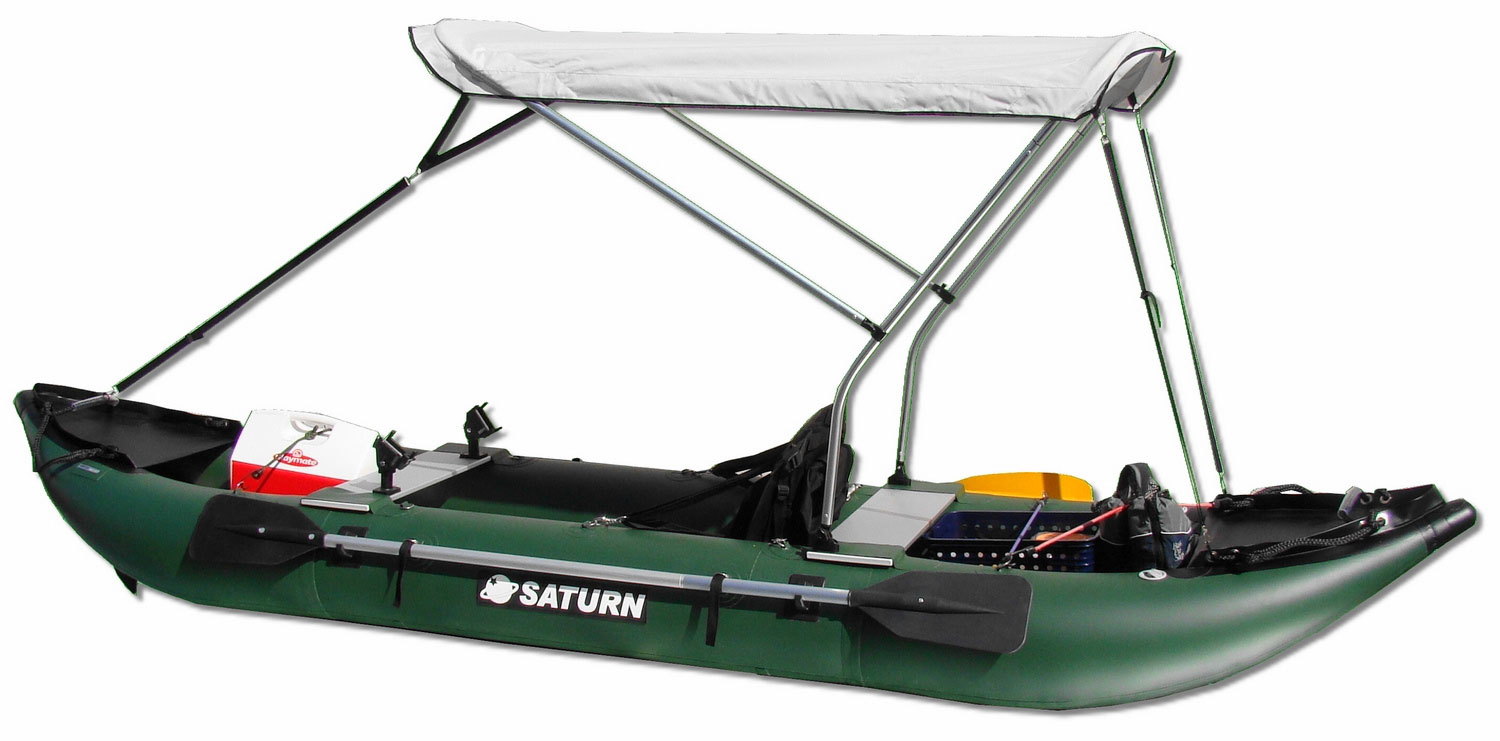New saturn 13 39 pro angler fishing inflatable kayak for Best inflatable fishing kayak