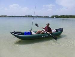 Saturn Inflatable Fishing Kayak FK396. Inflatable Kayaks for Fishing and Recreation. Click on image to zoom in.