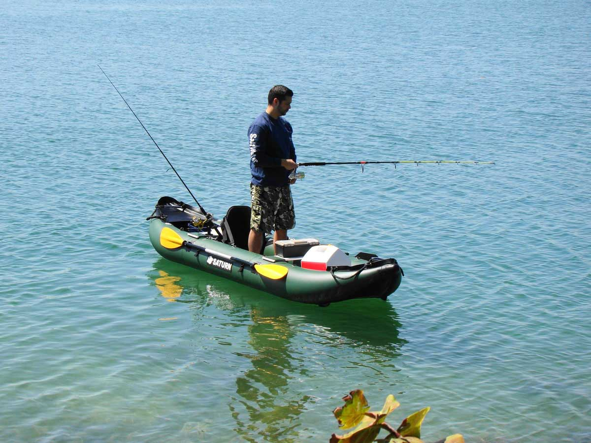 Saturn 13 39 fk396 pro angler series inflatable fishing kayaks for Blow up boat for fishing