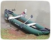 Saturn Inflatable Fishing Kayak Set Up by one of our customers. Click on image to enlarge.