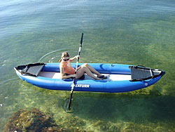 Saturn 12' RK375 Inflatable Kayak. Click to Order.