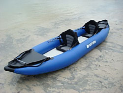 RK375 Saturn kayak with optional deluxe kayak seats installed