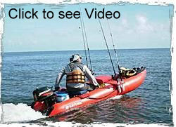 Click on image to see video clip of KaBoat set up for fishing by one of our customers.