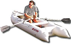 New 2009 version of SK396 KaBoat comes with a set of rowing oars.