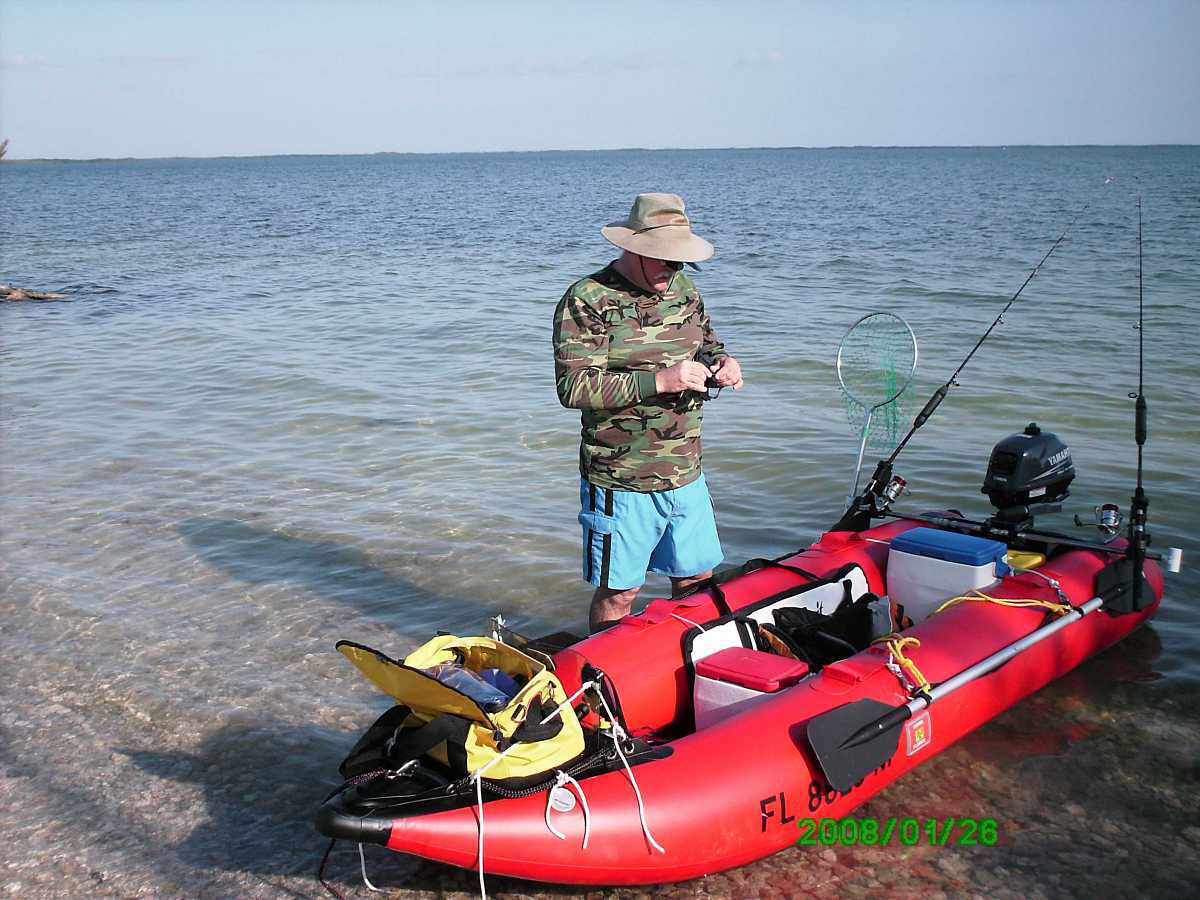 12ft Saturn Inflatable Kayak Boat Kaboat Gray Red Sk396