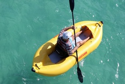Saturn NANO Ocean Inflatable Kayak for 1 person. Click on picture to zoom in.