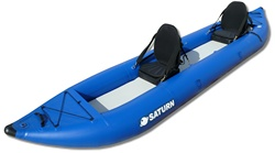 Saturn inflatable kayak OK420 with 2 kayak seats installed (optional upgrade). Click to zoom in.