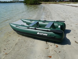 Inflatable Fishing Boat Catamaran Saturn NC290. Click to zoom in.