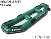 12' Saturn Inflatable Ducky Raft Fishing Boat