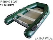 Extra Wide Inflatable Fishing Boats SD330W