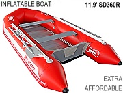 Red Affordable Inflatable Boat
