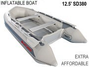 Light Gray 13.5 Affordable Inflatable Boat
